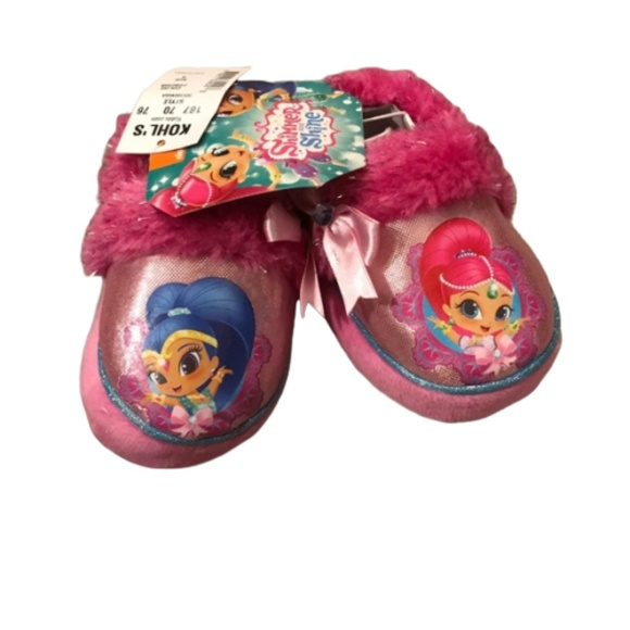 Size 6 Brand New Shimmer /& Shine Gift Nickelodeon Slippers Pink